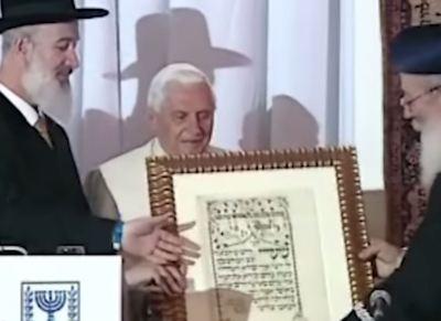 J. Ratzinger: 'I Giudei non credono a Gesù genuinamente, a causa dell'oscurità dei testi'