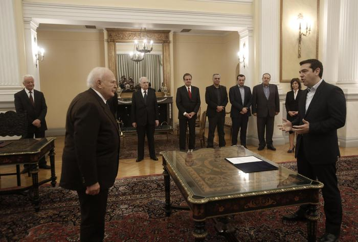 Alexis Tsipras sworn in as Greek Prime minister
