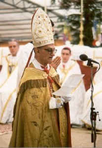 Mons. de Castro Mayer alle consacrazioni del 1988