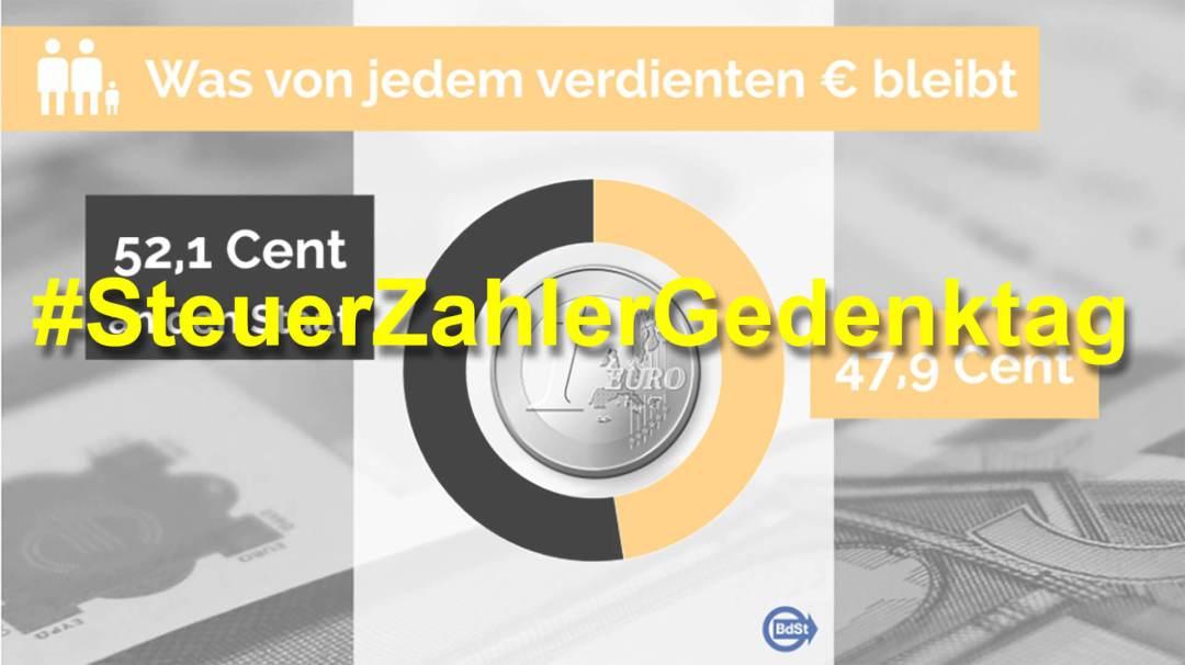 Social Media Thema der Woche: KW 28 – #SteuerZahlerGedenktag