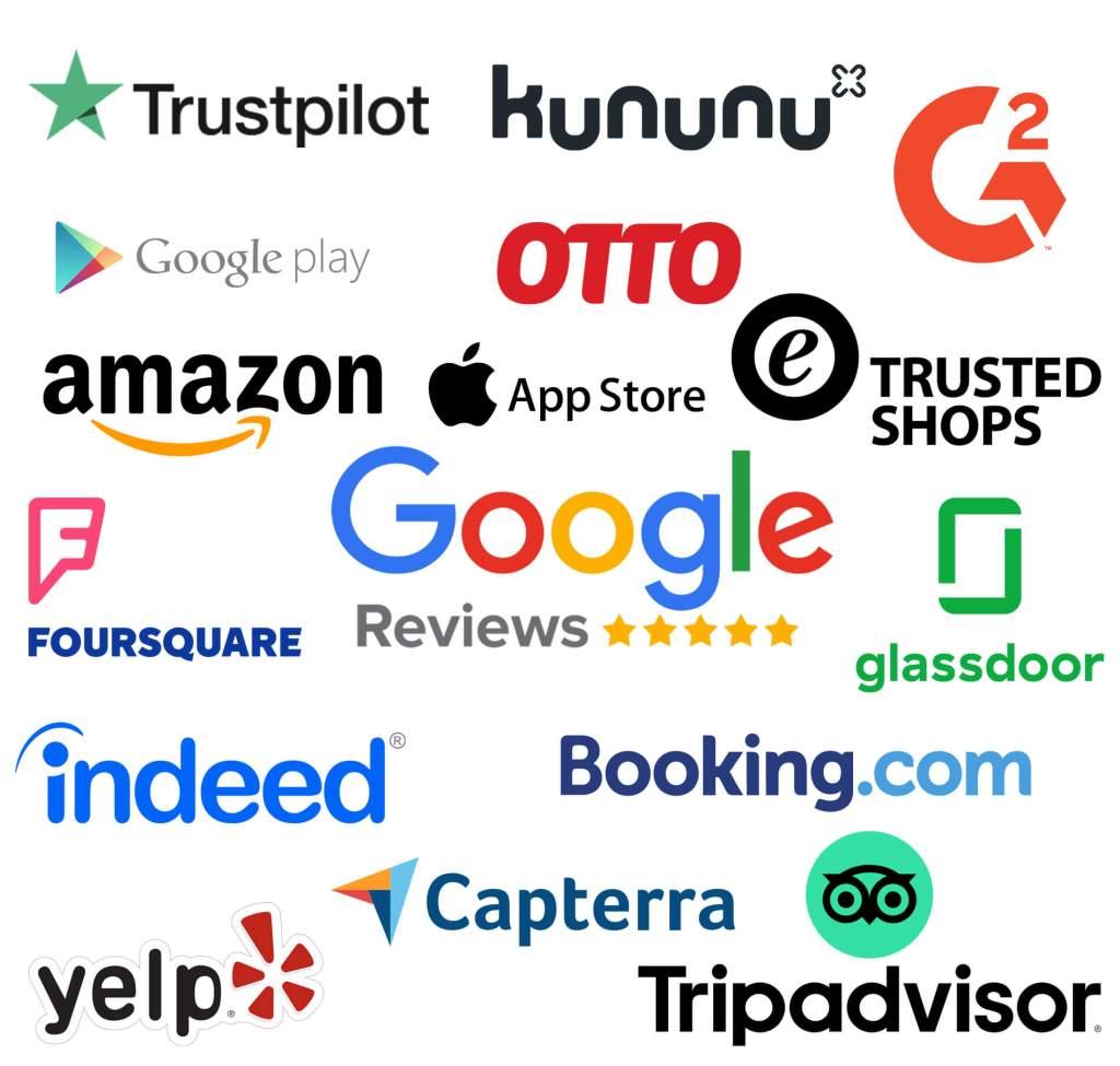 Von A wie Amazon bis Y wie Yelp: die Medienmonitoring-Plattform RS-Lynx deckt viele Kundenbewertungsportale ab.