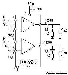 It is a low-frequency amplifier into two channels, powered