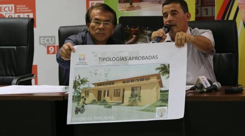 """El nuevo director provincial de MIDUVI de Sucumbíos Ing. Cesar Cevallos, en rueda de prensa explicó, sobre el alcance de la misión """"CASA PARA TODOS"""