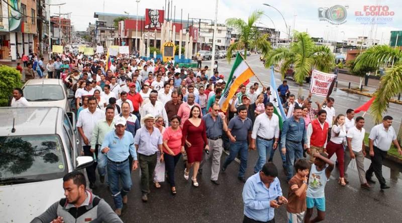 Ciudadanos de la provincia de Sucumbíos, exige a la Asamblea Nacional, se ratifique en el texto inicial de la Ley Especial Amazónica para su aprobación.