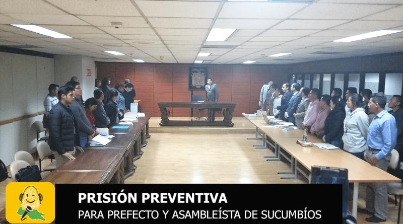 Corte nacional de justicia dicta prisión preventiva para detenidos en Sucumbíos