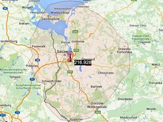 DAB+ Empfang aus Polen in Tantow längst möglich! Der rbb-Sender Casekow kann nur Analog. (Grafik: PR Szczecin)
