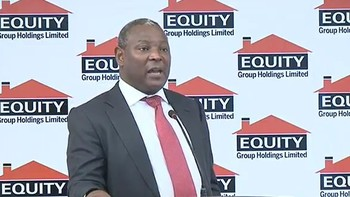 File photo: Equity Bank CEO James Mwangi