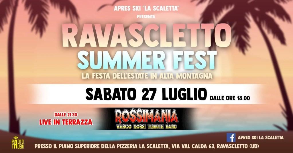 Ravascletto Summer Fest con la Tribute band di Vasco