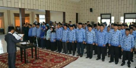 115 Pejabat Dilantik, Bupati Harapkan Etos Kerja Yang Tinggi
