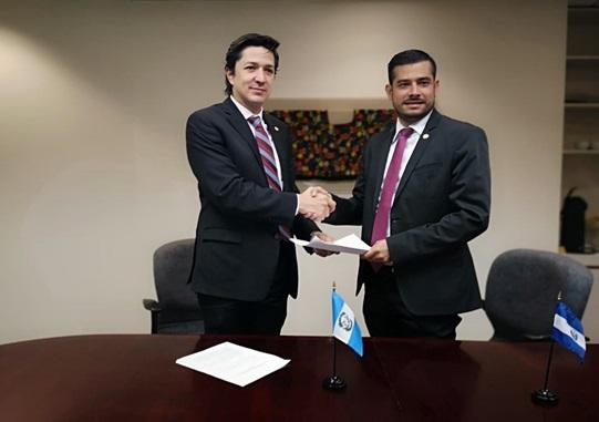 Guatemala y El Salvador, suscribe carta de entendimiento técnico
