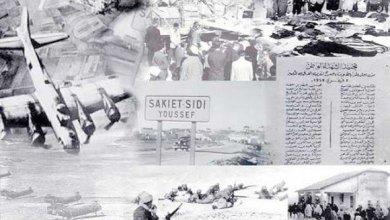 صورة السيد زيتوني يترحم رفقة وفد تونسي رسمي على أرواح شهداء ساقية سيدي يوسف