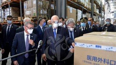 """صورة الرئيس تبون يؤكد على ضرورة إيصال وسائل الوقاية من فيروس كورونا إلى """"كل شبر من التراب الوطني"""""""
