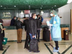 صورة الجزائر العاصمة: خروج أول دفعة من المسافرين من الحجر الصحي بفندق مزفران