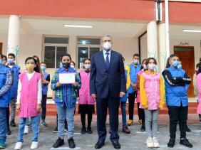 صورة الوزير الأول يشرف على افتتاح الموسم الدراسي 2020-2021 للطورين المتوسط والثانوي