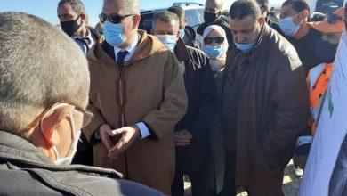 صورة زيارة والي الولاية لدائرة حمادية