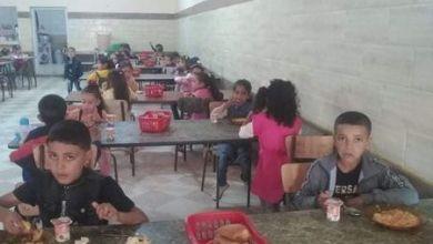 صورة نموذج للدخول المدرسي مع اول وجبة غذائية  من مدرسة مبارك منصور بعين الذهب