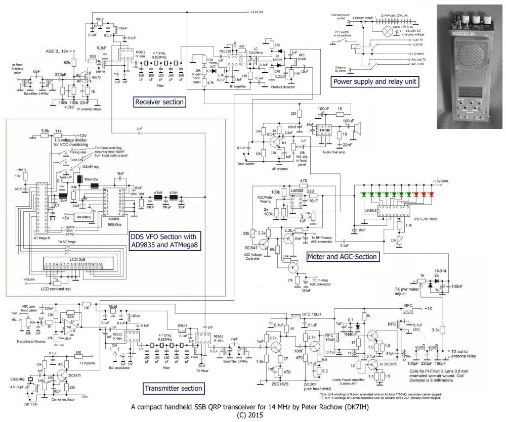 medium resolution of revised schematic of qrp ssb handheld transceiver for 14 mhz 20meter by dk7ih peter