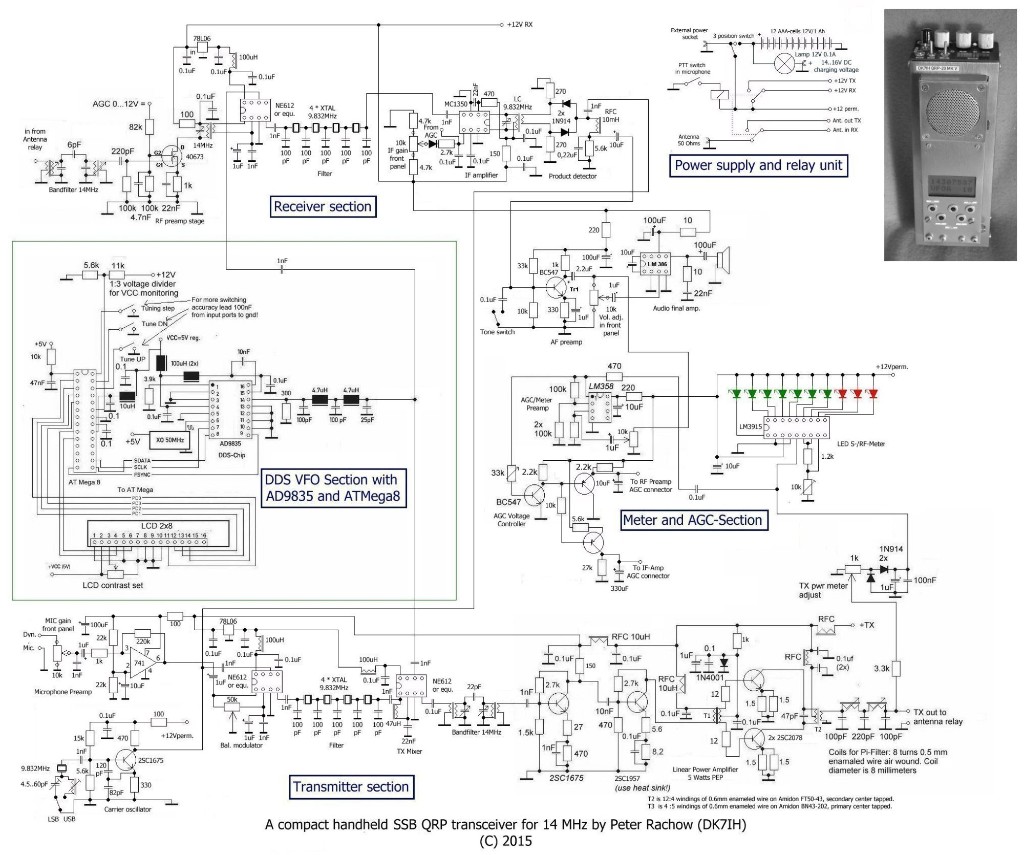 hight resolution of revised schematic of qrp ssb handheld transceiver for 14 mhz 20meter by dk7ih peter