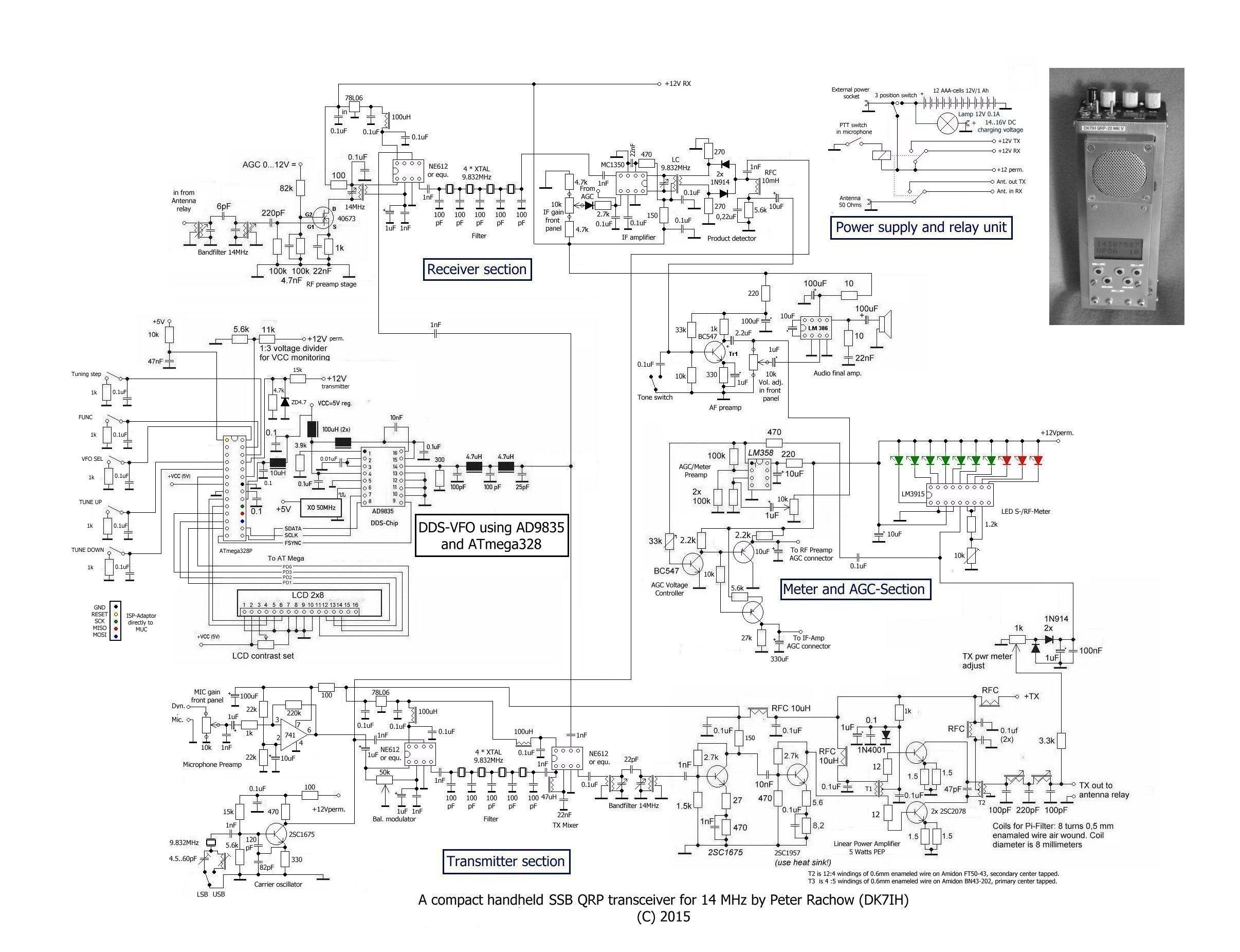 small resolution of handheld radio diagram wiring diagrams the errata schematic of 14 mhz handheld transceiver revised amateur handheld