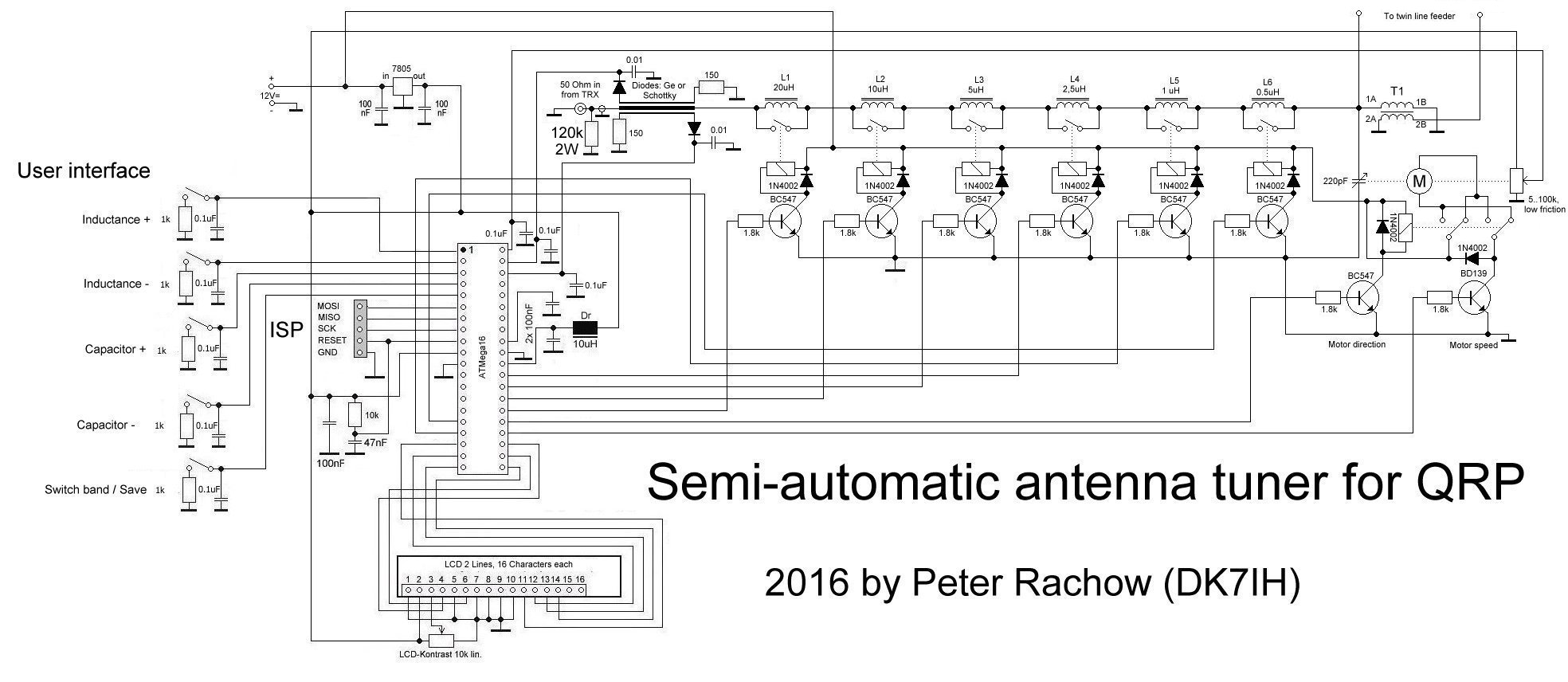 hight resolution of semi automatic antenna tuner for qrp c 2016 by peter rachow dk7ih