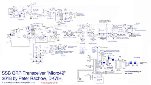 small resolution of schematic the micro42 a really shirt pocket sized qrp ssb transceiver click for full size picture