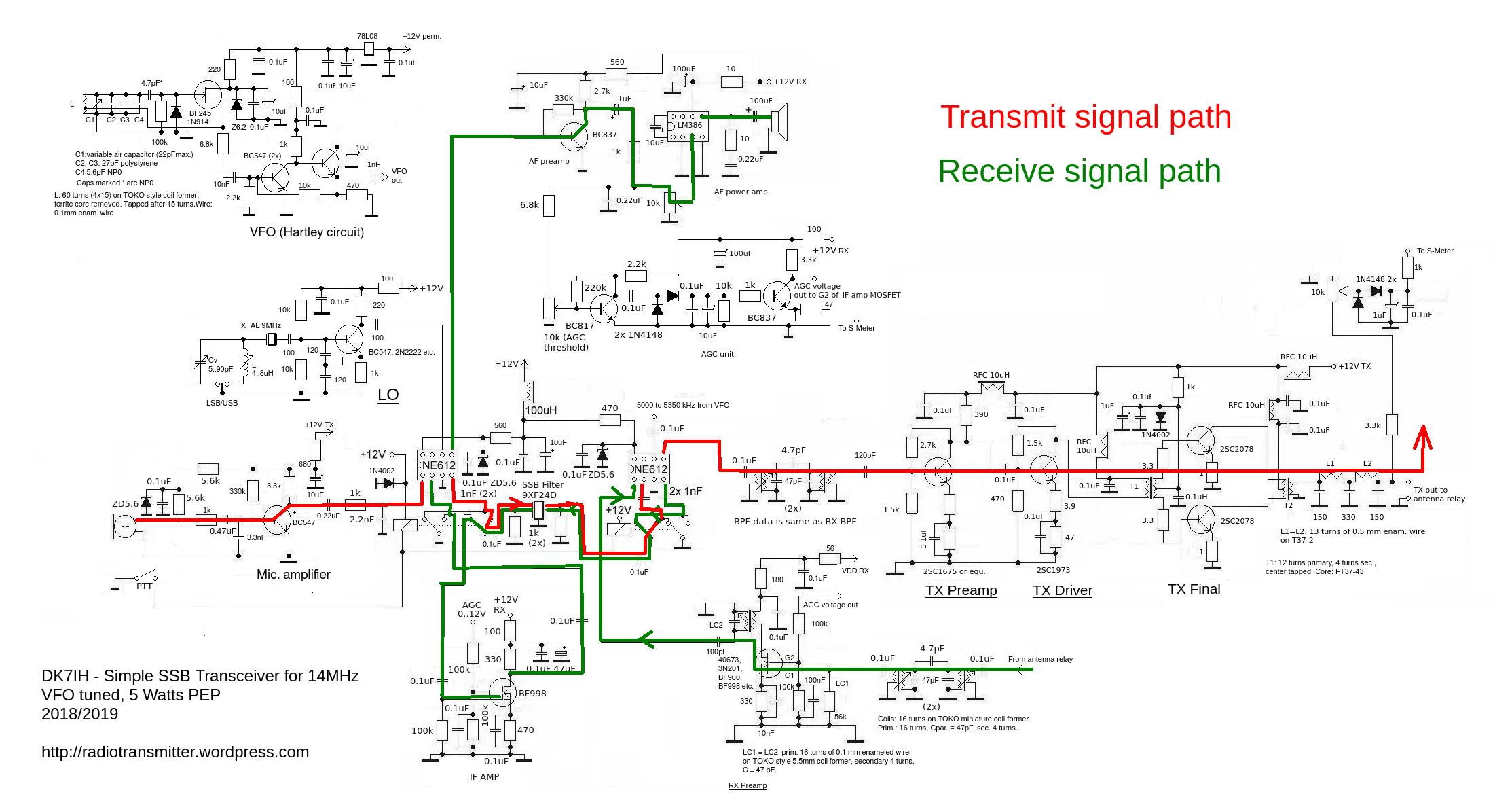 peter rachow amateur radio engineering projects peter rachow dk7ih fig 416 block diagram of ssb transmitter [ 2227 x 1185 Pixel ]