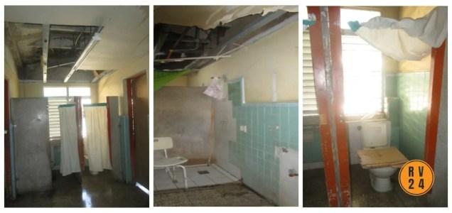 Baños del hospital Celia Sánchez Manduley.