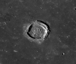 Square Craters on the Moon
