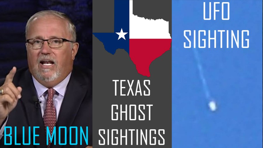 UFO Sighting, Ghost Sightings in Texas and a Blue Moon on Halloween