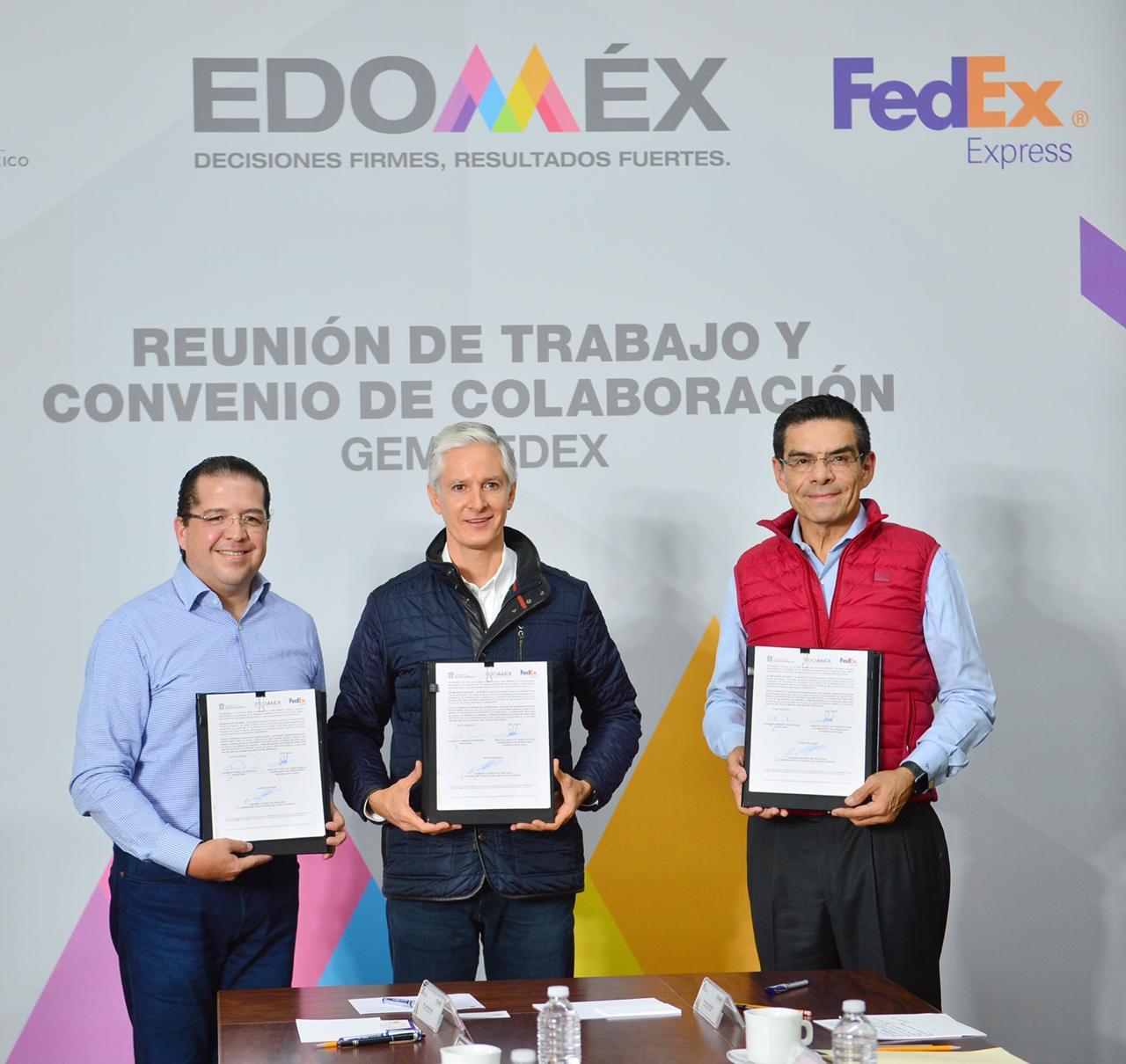 FIRMA DEL MAZO CONVENIO CON FEDEX A FAVOR DE MICRO, PEQUEÑAS Y MEDIANAS EMPRESAS