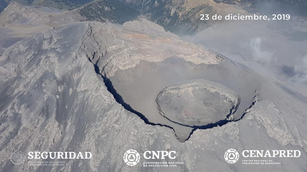 REPORTAN UNAM Y PC DESTRUCCIÓN DEL DOMO NO. 85 DEL POPOCATÉPETL