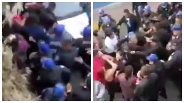 VIDEO: CAPTAN A POLICÍAS AGREDIENDO A MUJERES EN CUAJIMALPA