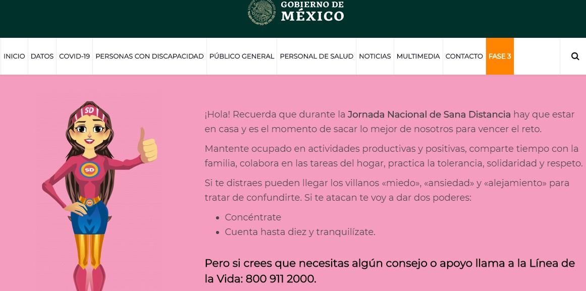 SSA PONE A DISPOSICIÓN APARTADO DE SALUD MENTAL EN SITIO WEB DE COVID-19