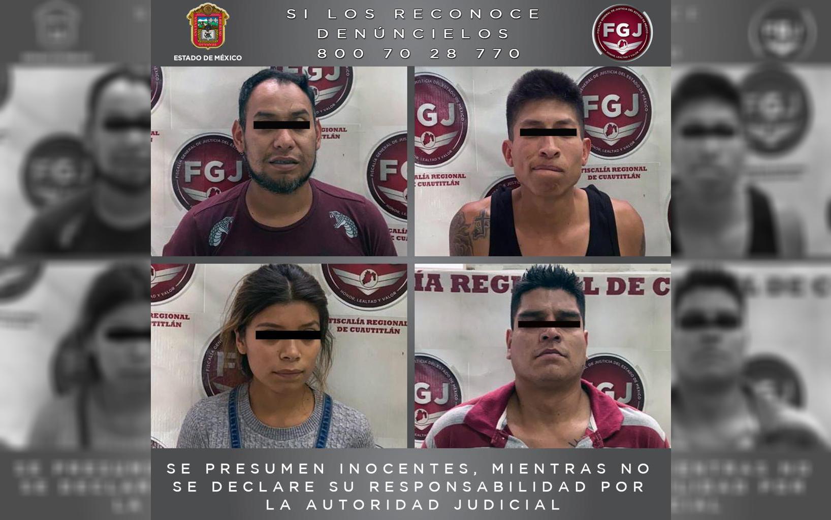 CUATRO PROCESADOS POR ROBO CON VIOLENCIA EN TULTEPEC