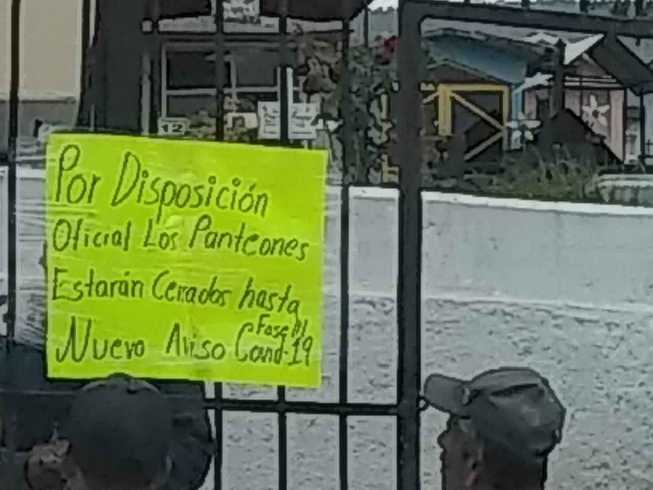 PANTEONES DEL EDOMÉX SUSPENDEN VISITAS PARA EVITAR CASOS DE COVID-19