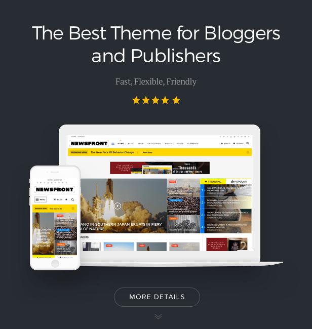 NewsFront: Blog, News & Editorial eCommerce WordPress Theme - 3