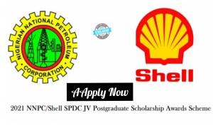 Shell/NNPC/SPDC Join Venture University Scholarship