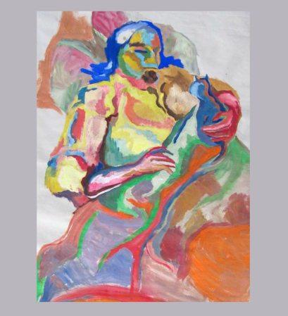 Gouache on paper, Kocka, 1999