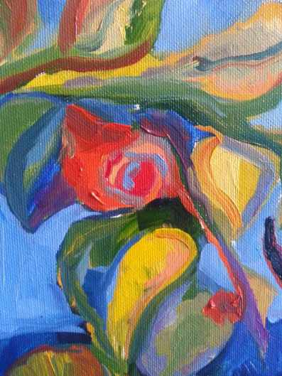 detail from oil painting