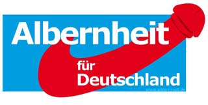 Ein Vorschlag für das neue Logo der (sogenannten) Alternative für Deutschland.
