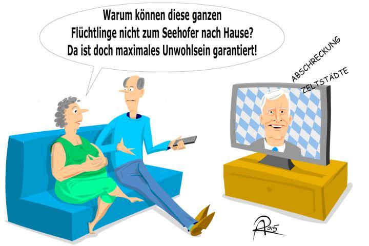 Horst Seehofer kündigt eine härtere Gangart im Umgang mit Flüchtlingen an und plant abschreckende Maßnahmen.