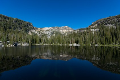 Baker Lake and North Trapper Peak reflections