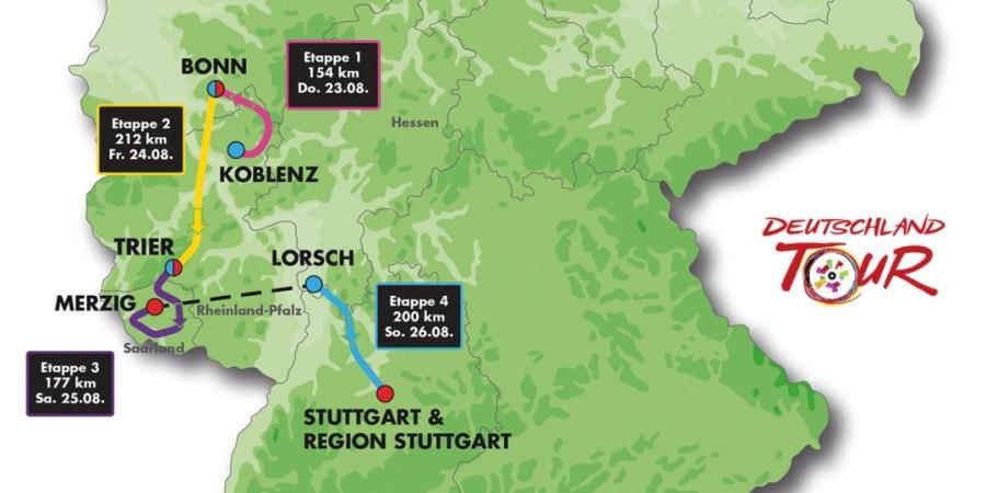 Deutschland deine Tour, Strecke 2018