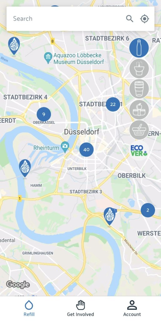 Screenshot Refill App Düsseldorf