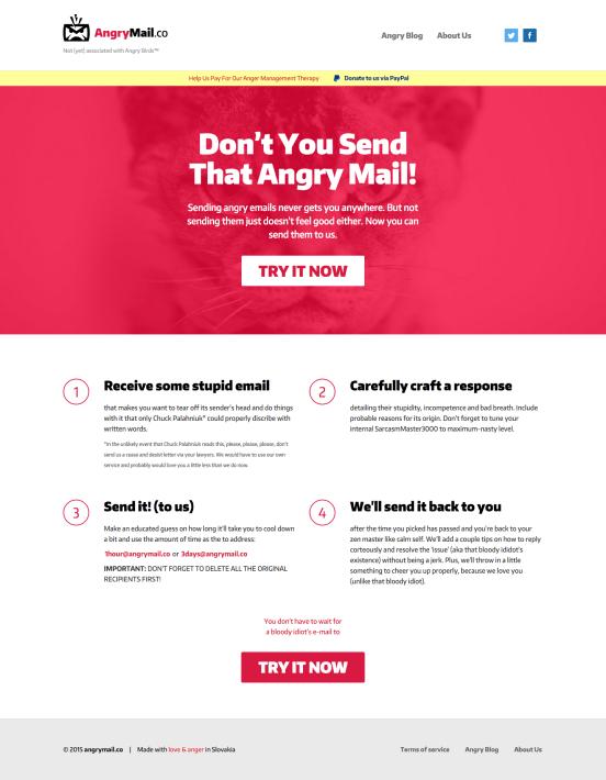 Angrymail screenshot