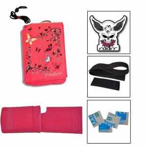 Girls Pink Butterflies Value Pack for Insulin Pumps