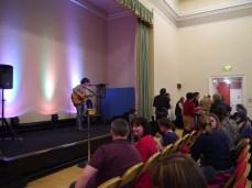 George providing live tunes