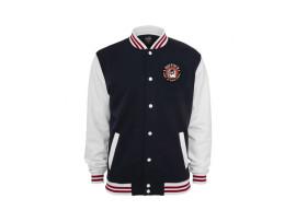 "Boppin'B 3-tone College Sweater ""Navy White"" Man"
