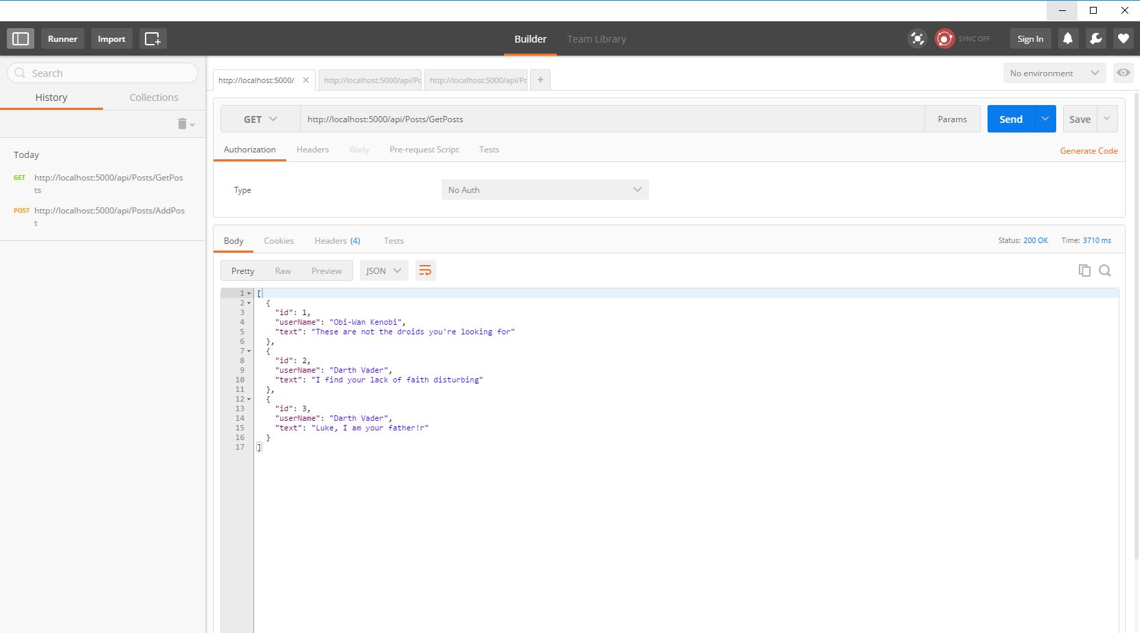 Introduction to ASP .NET Core MVC API