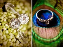 Peacock themed wedding jewelry - Raduban Photography